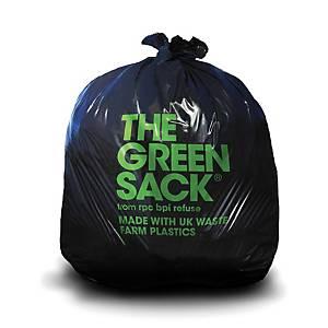 The Green Sack 28 X 37 Black Refuse Sack 10 Bags