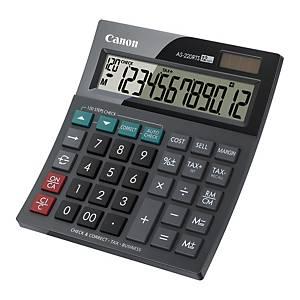 CANON เครื่องคิดเลขชนิดตั้งโต๊ะ AS-220RTS 12 หลัก