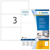 HERMA 4664 etiketten met perforatie A4 210x99 mm wit - doos van 300 etiketten
