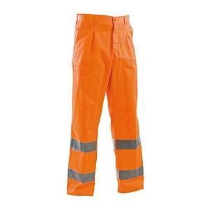 Pantaloni alta visibilità estivi P&P arancione tg L