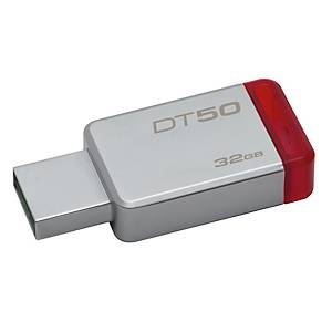 KINGSTON แฟลชไดรฟ์ รุ่น DT50 32 GB สีแดง