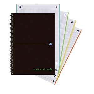 Cuaderno de espiral Oxford Black n colours - A4+ - 80 hojas - cuadriculado