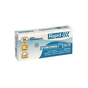 Rapid Galvanized Staples - Capacity 30 Sheets - Box of 1000