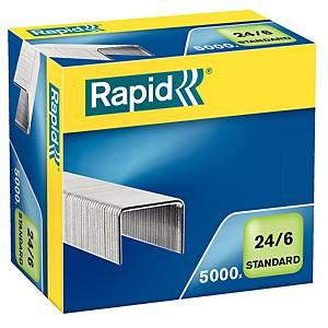 Caixa 5000 agrafos Rapid 24/6 - galvanizados