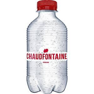 Eau pétillante Chaudfontaine, le paquet de 24 bouteilles de 0,33 l