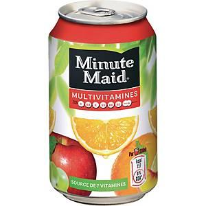 Minute Maid multivitamines, pak van 24 blikken van 33 cl