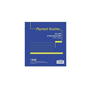 Payment Voucher Pre Printed Pad 177 X 190mm - 50 Sheets X 2 Ply