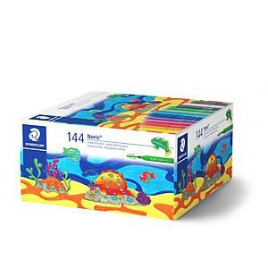 Staedtler® 328 viltstiften, assorti kleuren, klaspak van 144 stiften
