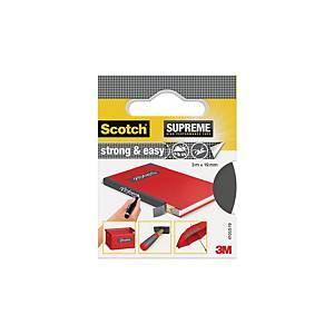 Scotch Supreme Strong & Easy ruban adhésif pour livres 19 mm x 3 m - gris