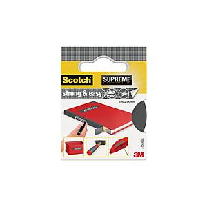 Scotch Supreme Strong & Easy ruban adhésif pour livres 38 mm x 3 m - gris