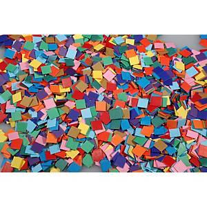 Kartonmozaïek, 13 assorti kleuren, per 10.000 kartonnen vierkantjes