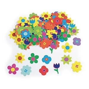 Colorations gommettes fleurs couleurs assorties - le paquet de 1.250 gommettes