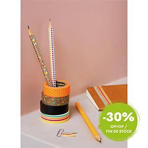 Ruban adhésif Scotch® Expressions Tape, bleu avec motif craquelé, 15 mm x 10 m