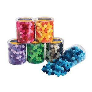 Colorations pompons par couleur - 6 x 250 pompons