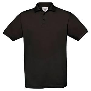 Polo coton B&C - noir - taille XL