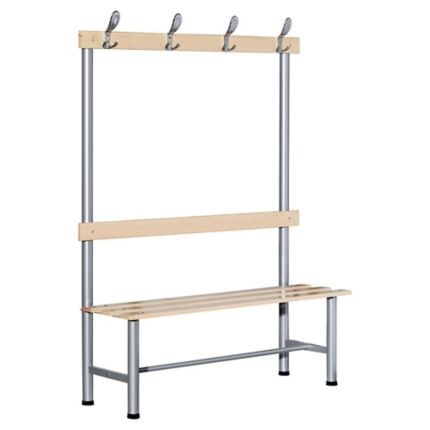 Banc De Vestiaire A Patere Simple Face Largeur 1200 Mm En Metal