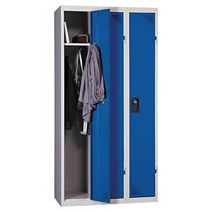 Vestiaire EVP pour industrie propre - 3 colonnes - l. 90 cm - bleu