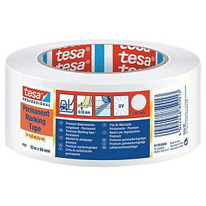 Označovací PVC páska tesaflex® 04169, 50 mm x 33 m, bílá