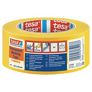 Cinta de señalización adhesiva Tesa PVC - 50 mm x 33 m - amarillo