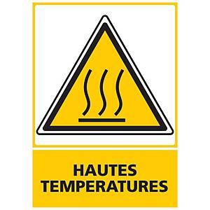 Panneau adhésif PVC - Hautes températures - A3