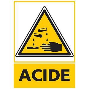 Panneau autocollant - Acide - A3