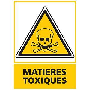 Panneau adhésif PVC - Matières toxiques - A3