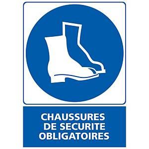 Panneau autocollant - Chaussures de sécurité obligatoires - A5