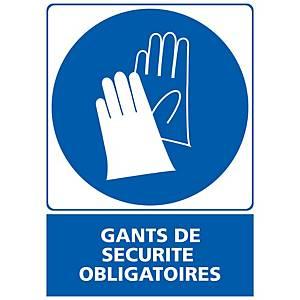 Panneau autocollant - Gants de sécurité obligatoires - A3