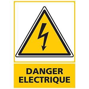 Panneau autocollant - Danger électrique - A5