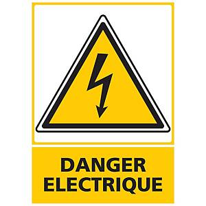 Panneau adhésif PVC - Danger électrique - A5