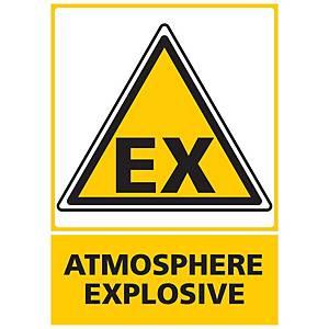 Panneau adhésif PVC - Atmosphère explosive - A3