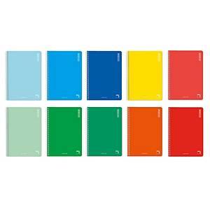 Cuaderno con espiral Pacsa School 4º - 80 hojas - 60 g/m2 - surtido