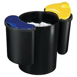 Cep recycle vuilnisbak, 25 l, kunststof, zwart, blauw, geel