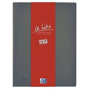 Porte vues Oxford Le Lutin - PVC opaque - 30 pochettes - grise