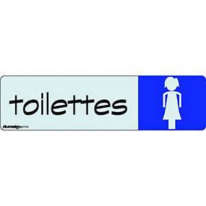 Plaque de porte Sign - Toilettes femmes - 170 x 47 mm