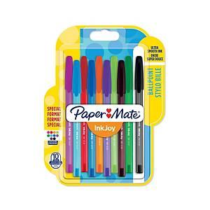 Pack de 8+2 bolígrafos Paper Mate Inkjoy 100 - varios colores