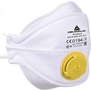 Atemschutzmaske mit Ventil Delta Plus M1204V, Typ FFP2, Packung à 10 Stück