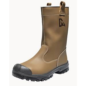 Emma Merula S3 SRC leather working boot with lining brown - Size D 43