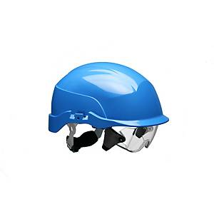Conturion Spectrum vented safety helmet + integrated glasses - blue