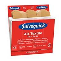Salvequick 6444 navulling textielpleisters voor pleisterdispenser, pak van 40