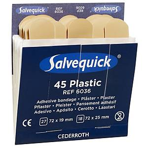 Salvequick 6036 plastic bandage for bandage dispenser - pack of 45