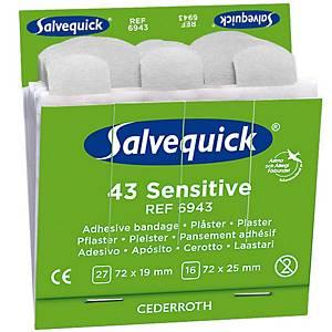 Salvequick 6943 sensitive bandage for bandage dispenser  - pack of 43
