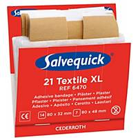 Salvequick 6470 navulling textielpleisters XL voor pleisterdispenser, pak van 21