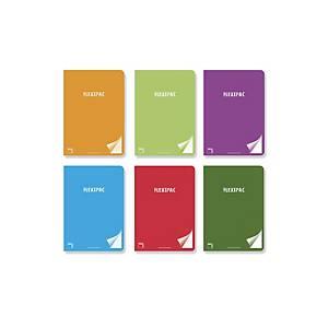 Cuaderno Flexipac A5+ 48h 90gr Horizontal Colores Surtidos