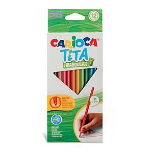 Pack De 12 Lápices Resina CARIOCA Tita Triangular