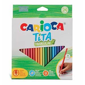 Pack De 24 Lápices Resina CARIOCA Tita Triangular