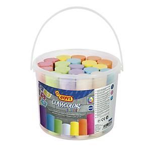 Pack de 20 tizas Jovi max classcolor - colores surtidos