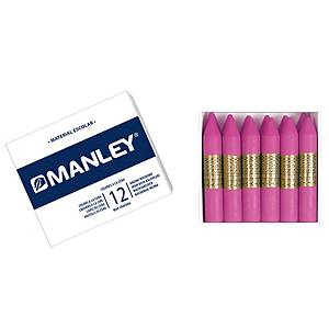 Pack de 12 ceras Manleyunicolor 11 - rosa natural