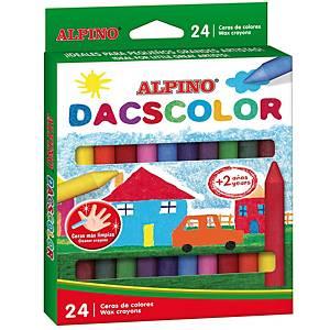 Pack de 24 ceras Alpino Dacscolor - colores surtidos