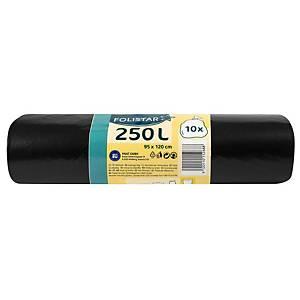 Alufix Economy szemeteszsák, polietilén, fekete, 240 l